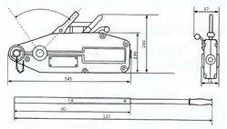 Монтажно-тяговый тросовый механизм GART Lifting 1.6Т + трос 20 м